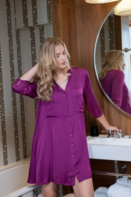ROBE CHEMISE AMPLE SILKY TOUCH PAKO LITTO AH21